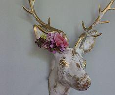 Faux Taxidermy Deer Wall Hanging Decor Vintage by mysecretlite