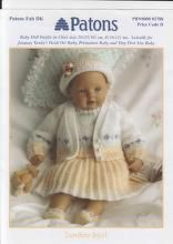 Patons 2788 Sunday Best for Baby or Doll Baby Cardigan Knitting Pattern Free, Baby Knitting Patterns, Baby Patterns, Knitting Ideas, Knitted Doll Patterns, Knitted Dolls, Knitted Baby, Knitting Dolls Clothes, Doll Clothes Patterns
