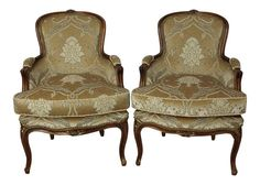 Westchester Finds - Classic fine quality furniture, lighting, collectibles, artwork and unique decor items from the past and present curated from t. Bergere Chair, Armchair, French Provincial, French Country Decorating, Quality Furniture, Upholstered Chairs, French Vintage, Vintage Furniture, Accent Decor