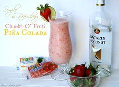 Simple & Refreshing Chunks O' Fruti Pina Colada #summer #fundrink #patio