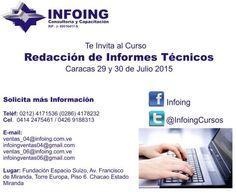 @InfoingCursos #Redacción CURSO REDACCIÓN DE INFORMES TÉCNICOS Conoce la planificación de los pasos previos a la elaboración del  informe * 29 y 30 de Julio * Caracas * + 58 (212) 417.1536 / (286) 417.8232  * http://www.infoing.com.ve #informes #presentaciones