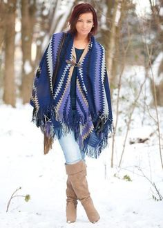 fringe blanket mexican poncho, Blanket ponchos fashion trends http://www.justtrendygirls.com/blanket-ponchos-fashion-trends/