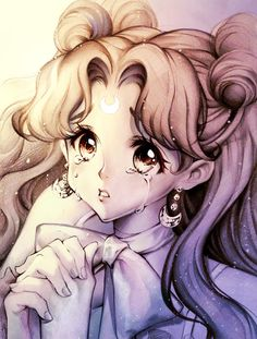Luna the cat from Sailor Moon in her human form. I really like the original design of her so she's one of my favourite