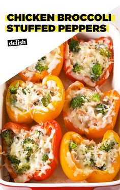 Chicken Broccoli Stuffed Peppers = The Perfect DinnerDelish
