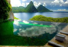 Infinity pool in the privacy of your sanctuary at Jade Mountain, St. Lucia