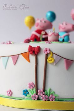 Peppa Pig Cake by Luisa SistersCakes.es, via Flickr