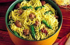 Tagliolini con Asparagi e Salsiccia