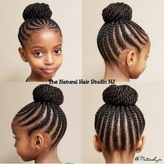 It's Bun season! - It's Bun season! It's Bun season! Box Braids Hairstyles, Lil Girl Hairstyles, Black Kids Hairstyles, Natural Hairstyles For Kids, Kids Braided Hairstyles, My Hairstyle, African Hairstyles, Hairstyles 2018, Braided Updo