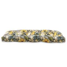 Outdoor Settee Cushion in Whitlock Yellow Wedding Gift Registry, Bedding Shop, Fine China, Bath Towels, Floral Tie, Yellow, Gifts, Outdoor