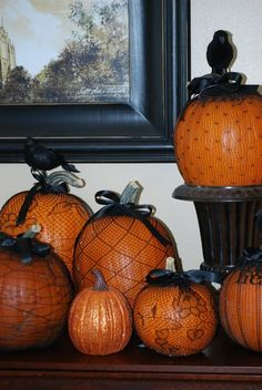 Fishnet Nylon Pumpkins