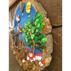 """""""Canlı Taş"""" /Tablo /Kapadokya / El yapımı / Dekorasyon #art #taş #elyapımı #pebbleart #stone #design #resim #dekor #ahşap #biblo #taşboyama #duvardekoru #balon #handmade #kapadokya #cappadocia #gift #hediye #Cappadocia Fiyat için mesaj atiniz. Whatsapp:05061360163 ."""