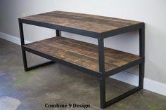 Modern Industrial TV Stand. Reclaimed wood & Steel. by leecowen, $475.00