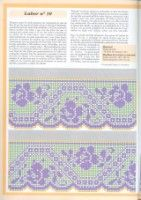 Szydełkomania: Borders for Filet Crochet Charts, Crochet Borders, Crochet Stitches Patterns, Embroidery Stitches, Stitch Patterns, Crochet Trim, Crochet Lace, Drawn Thread, Square Patterns
