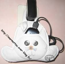 Resultado de imagem para feltro porta carregador celular gato