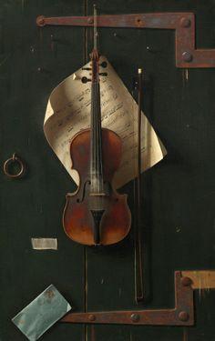 William Michael Harnett, The Old Violin, 1886, oil on canvas