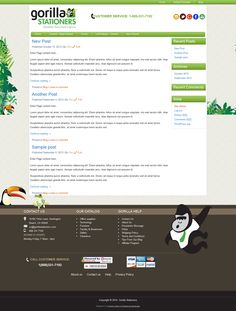 Created a custom wordpress theme for a new client at Gorilla Stationers