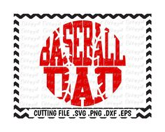 Baseball Dad Svg-Dxf-Eps-Fcm-Png, Cutting Files For Silhouette Cameo & Cricut, Svg Download. by CutItUpYall on Etsy