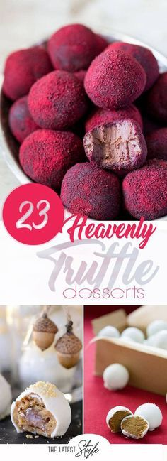 23 Best Truffle Dessert Recipes that are Perfect for Every Occasion Truffle Recipe Ideas No Bake Truffles, Cake Truffles, Cupcakes, Chocolate Truffles, Lemon Truffles, Chocolate Labs, Köstliche Desserts, Holiday Desserts, Delicious Desserts