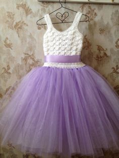 little crochet and tulle dress