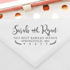 Gift for dad Personalised Christmas- 7K Personalized Return address stamp self ink with Modern Calligraphy gift for Grand pa