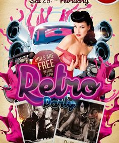 we have gathered 31 Free PSD Party & Club Flyer Templates. These flyers can be used for a variety of events like DJ Nights, Festivals, Ladies Club Nights, and many other parties. Sample Flyers, Free Psd Flyer Templates, Club Poster, Club Flyers, Retro Party, Party Flyer, Flyer Design, Retro Vintage, Mansion