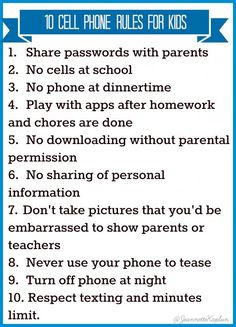 Image result for phone rules at home