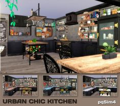 PQSims4: Urban Chic Kitchen • Sims 4 Downloads