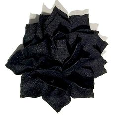 "black 3"" poinsettia flowers. For headband making, barefoot baby sandals, sewing. Fold over elastic, rhinestones, appliqués & more also available."