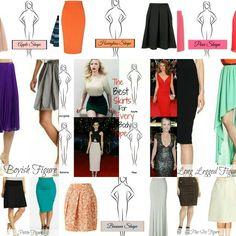 Best Skirts for each body type #skirts #skirtstyle #howtowearskirtsaccordingtobodytype #skirts