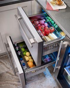Rhode Island kitchen with True Residential 24 Refrigerator Drawers Kitchen Tops, Kitchen Pantry, Diy Kitchen, Kitchen Storage, Kitchen Appliances, Kitchen Organization, Kitchen Cabinets, Island Kitchen, Organization Ideas