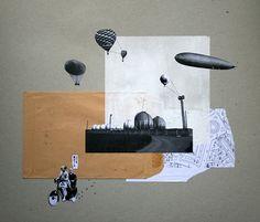 Collages rétro et minimalistes par Raúl Lázaro