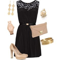 Black and nude - Polyvore
