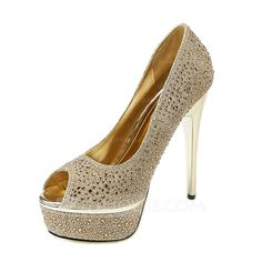 e24ad9e6a40103 Wedding Shoes -  53.99 - Women s Sparkling Glitter Stiletto Heel Peep Toe  Pumps (047046530)