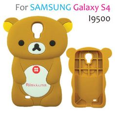 Cute Stereoscopic Bear Back Case Cover for Samsung Galaxy Ipod Cases, Cute Phone Cases, Rilakkuma, Cute Bear, Samsung Galaxy S4 Cases, Cute Cases, Mobile Covers, Protective Cases, Galaxies