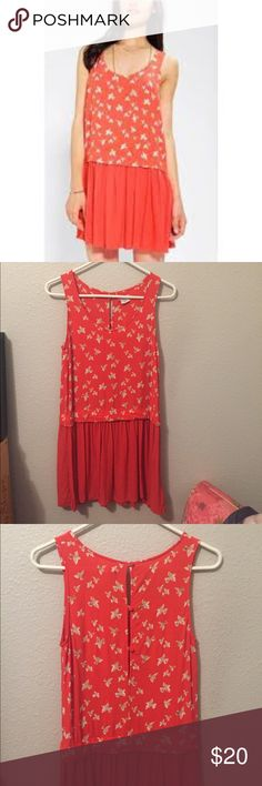 Cooperative dreamy bird drop waist dress Loooove this dress. Perfect for summer. Urban Outfitters Dresses Mini