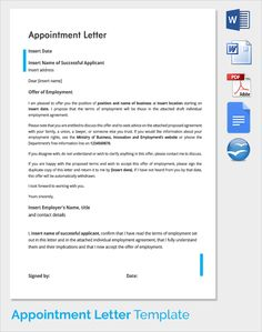 Awesome Sample Appointment Letter Download Free Documents Pdf Word Format Job Offer  Template And