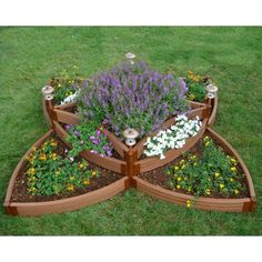 tiered flower bed-looks like a celtic knot