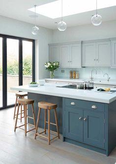 Modern Kitchen Design Modern meets Edwardian - transitional - Kitchen - South East - Rencraft Ltd - Modern Grey Kitchen, Grey Kitchens, Modern Kitchen Design, Home Kitchens, Transitional Kitchen, Minimalist Kitchen, Minimalist Style, Minimalist Design, Kitchen Black
