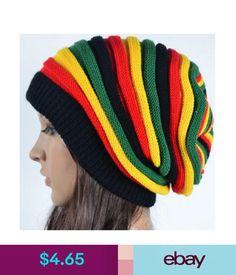 Hats Fashion Women s Striped Warm Knitted Crochet Jamaican Slouchy Baggy  Beanie Hat  ebay  Fashion dd7105568a6