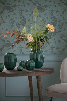 Green Hammershoj vases by Kähler