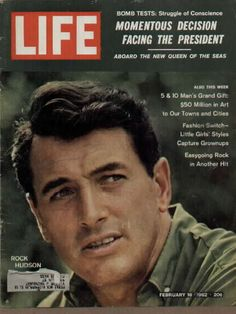 1962 vintage Life Mag cover featuring the legendary Rock Hudson.