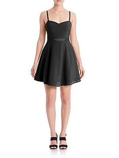 LIKELY Laser-Cut Neilson Dress - Black - Size