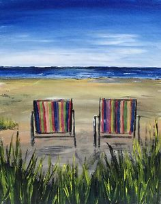 Paint Nite - Beach Chairs