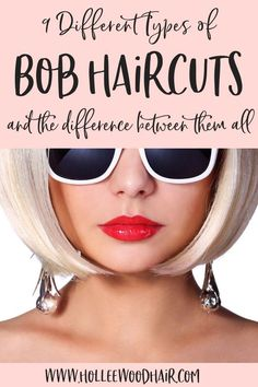 Bob haircuts are kinda amazing..but do you know the difference between a graduated bob, a-line haircut, and the other types of bob haircuts? #HairTips #Hairstyles #HairHacks #HairKnowledge