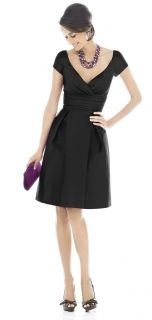 Alfred Sung Style D502 Bridesmaid Dress in Black
