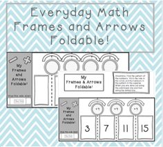 Use this to help students learn patterns using addition and subtraction with the frames and arrows foldable. Folds up like an accordion and can be glued into a journal. 1st Grade Math, Kindergarten Math, Second Grade, Fourth Grade, Fun Math, Math Games, Math Activities, Math Addition, Addition And Subtraction