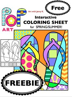 A FREEBIE from my Interactive Pop Art coloring book.
