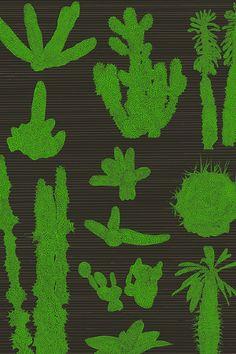 Hygge Cooperative   Pointy Wallpaper (Dark)