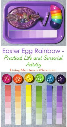 Easter Egg Rainbow Practical Life Activity and Extension for the Montessori Color Box 3