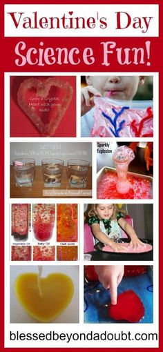 Trying to figure out a fun and different way to do Valentine's Day with your students? How about Valentine's Day Science Experiments! Check out this list of fun Valentines Day Food, My Funny Valentine, Valentine Theme, Valentine Day Love, Valentine Day Crafts, Valentine Ideas, Science For Kids, Science Fun, Science Activities